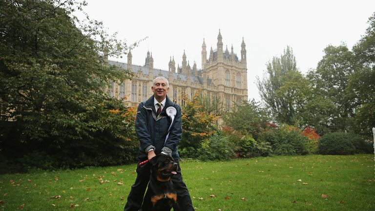 Sir Lindsay Hoyle and his rottweiler Gordon