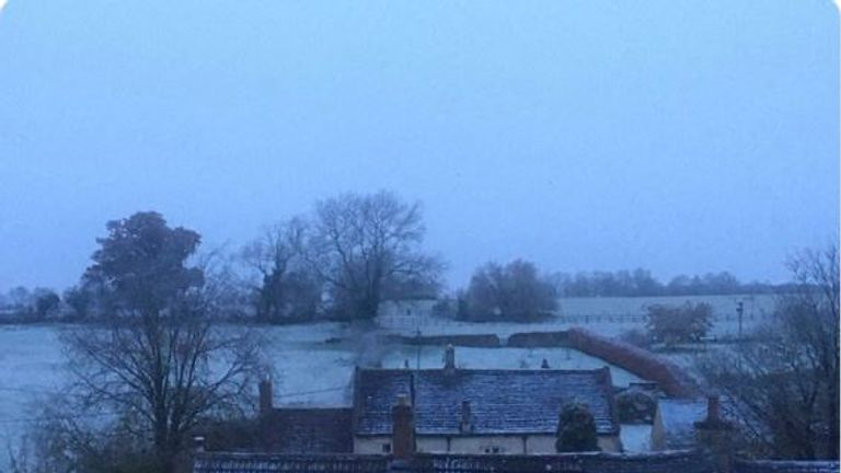 The first snow of the season in Wiltshire. Pic: @_ReadAmanda