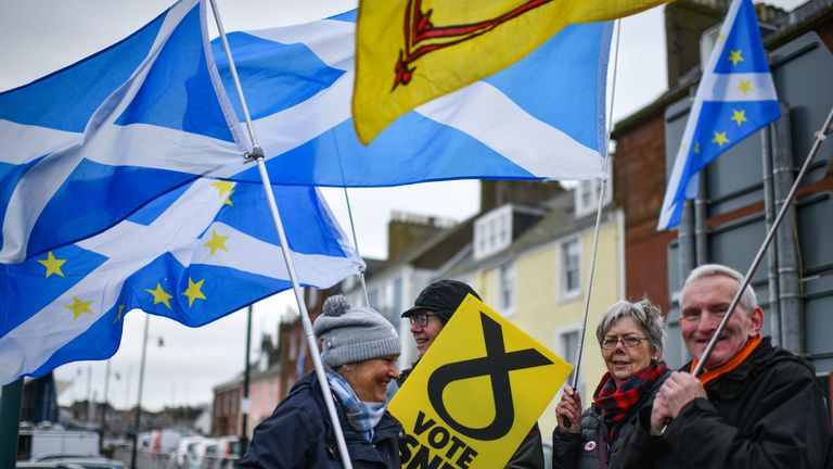 Scottish nationalists are pushing for a second independence referendum