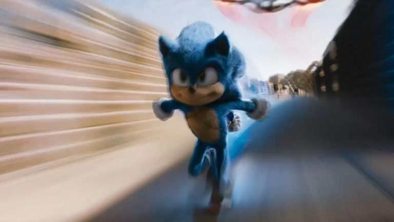 """The first trailer was met with a tide of criticism, with fans on social media mocking Sonic's """"human-style"""" facial features."""
