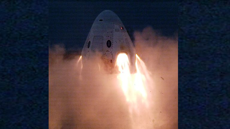 SpaceX's most recent test fire of its Crew Dragon spacecraft was a success