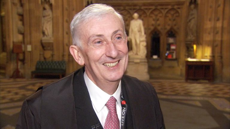 Newly-elected speaker of the House, Sir Lindsay Hoyle, spoke to Sky News' John Craig very shortly after being dragged to the chair
