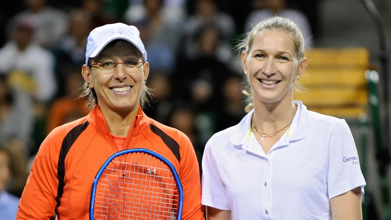 Steffi Graf and Martina Navratilova