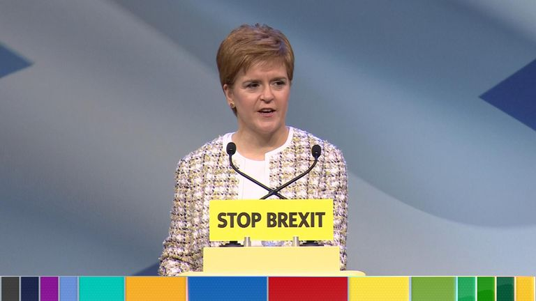 Nicola Sturgeon is launching the SNP's manifesto