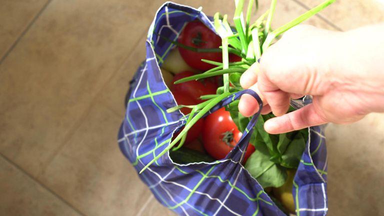 Supermarket bag for life