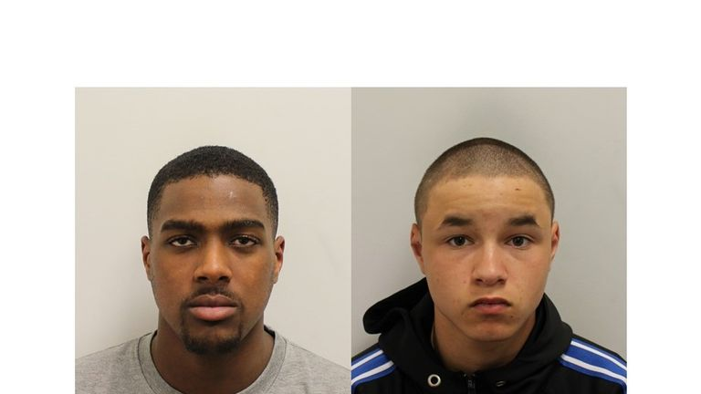 Svenson Ong-a-Kwie and Arron Isaacs have been sentenced. Pic: Met police
