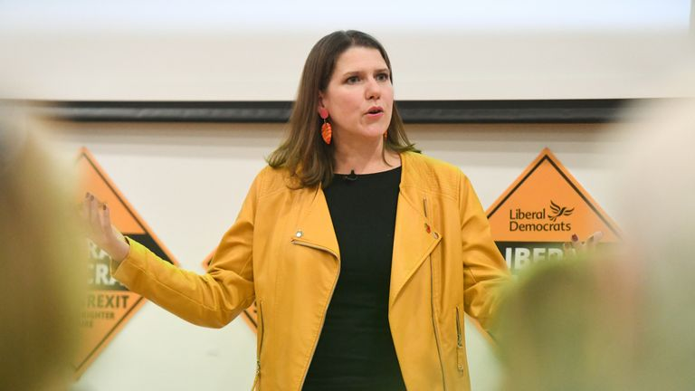 Liberal Democrat leader Jo Swinson