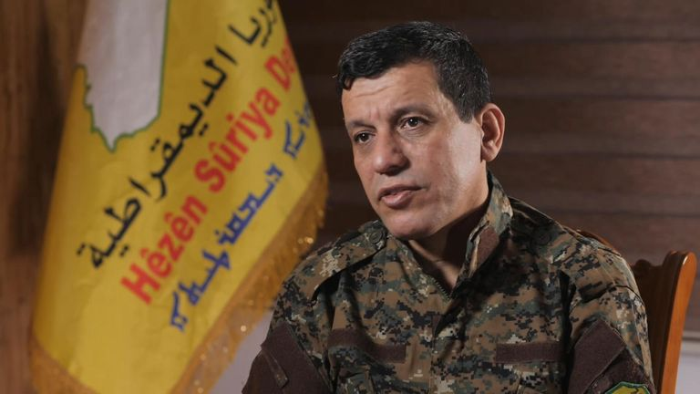 General Mazloum Kobane claimed Turkey is aiding the resurgence of IS