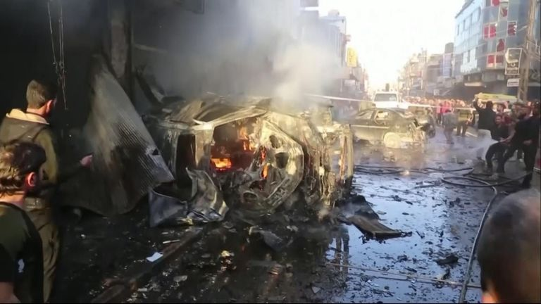 Kurds believe IS was behind three car bombs in one day in Qamishli, northern Syria, which killed five people this week