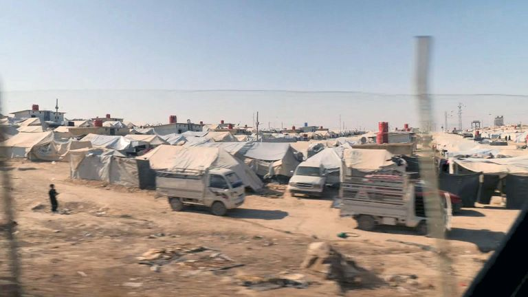 Squalid and insecure camp holds 70,000 who emerged from IS 'caliphate'