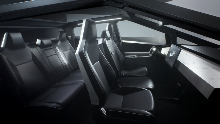 The interior of the Cybertruck. Pic: Tesla