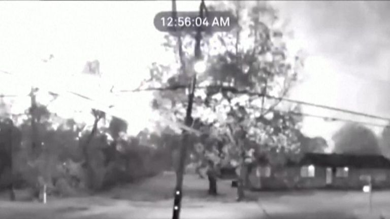 CCTV captures moment a chemical plant explodes in Texas