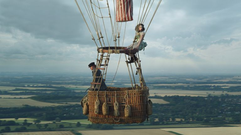 Eddie Redmayne and Felicity Jones in The Aeronauts. Pic: Amazon Studios