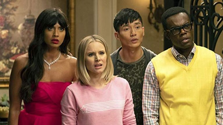 Kristen Bell, William Jackson Harper, Manny Jacinto and Jameela Jamil also star in the show