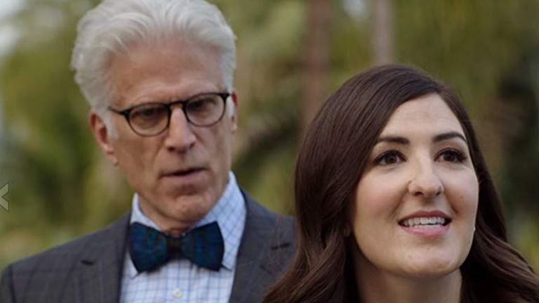 D'Arcy Corden and Ted Danson try to keep rule over the afterlife in The Good Place