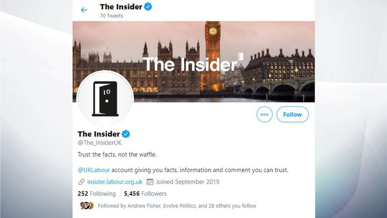 "The Labour Party runs a Twitter account called ""The Insider"""