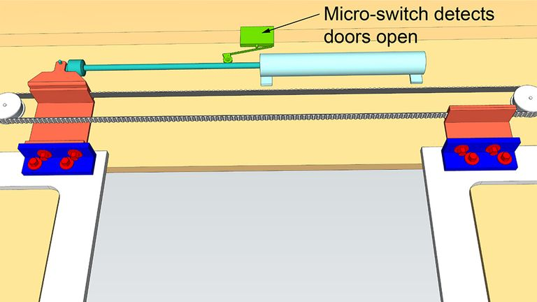 A graphic shows how the doors should look without any screws missing. Pic: RAIB