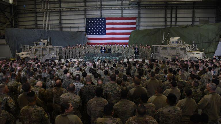 President Trump in Afghanistan