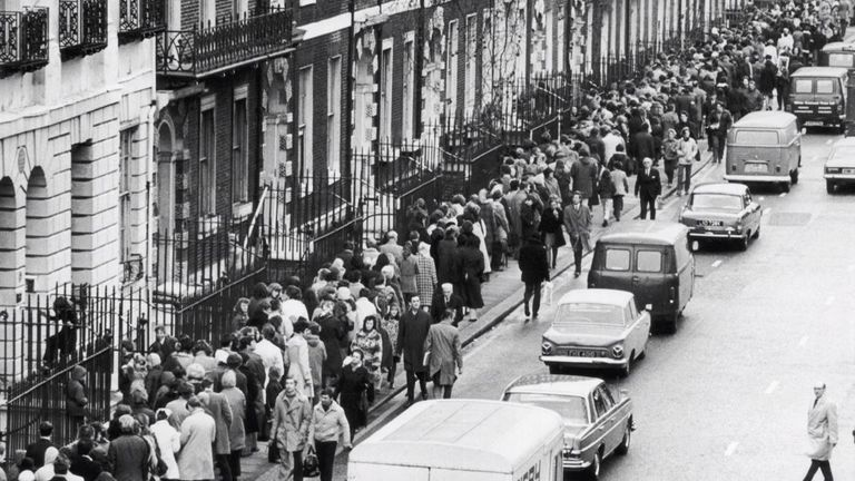 Huge crowds flocked to the British Museum to see Tutankhamun in the 70s