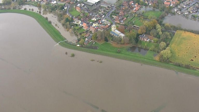 Flooding has left parts of Lincolnshire under water