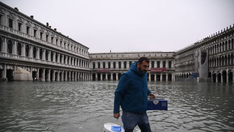 Venice flooded by highest tide in more than 50 years