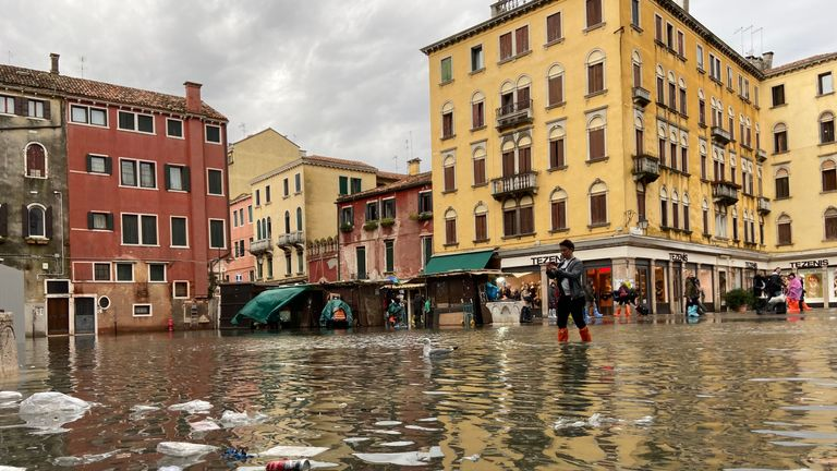 Venice hit by high tide