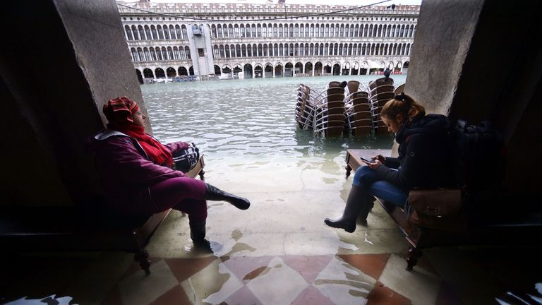 Venice left desolate and eerie as flood defence questions are asked