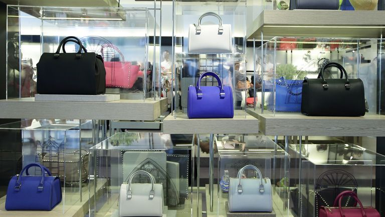 Victoria Beckham Ltd bags are seen on sale in Singapore
