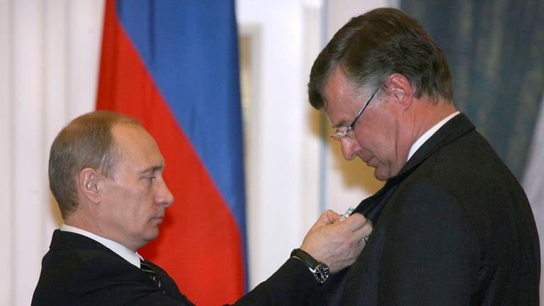 Vladimir Putin and Frederik Paulsen