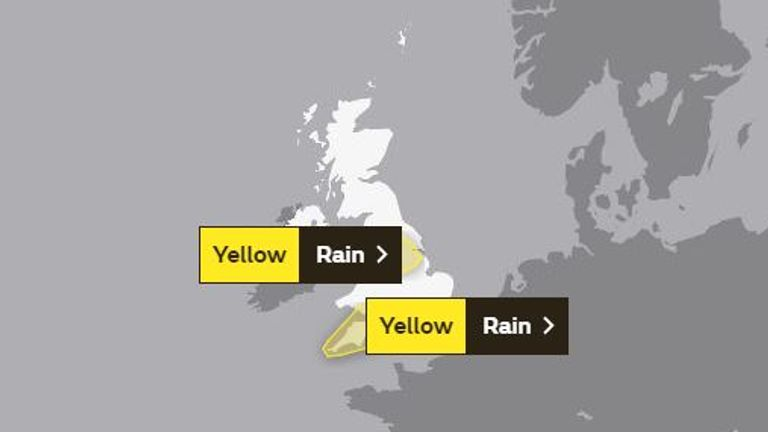 Forecasters alerts for areas already ravaged by floods. Pic: Met Office