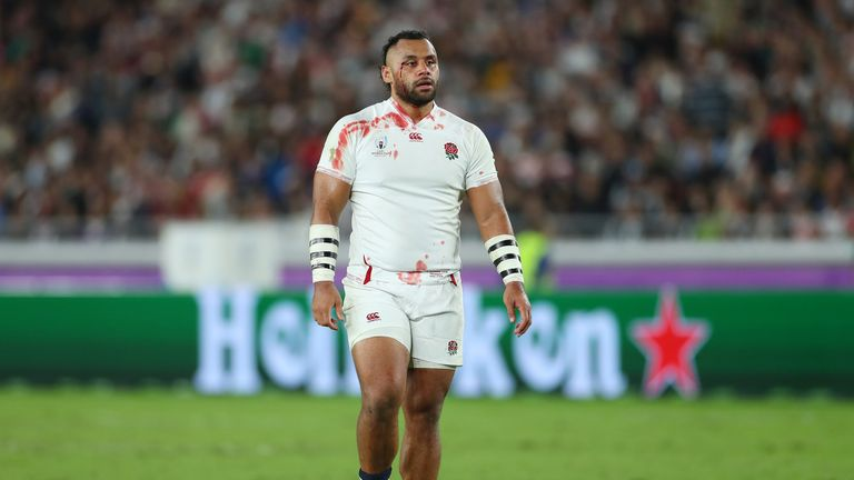 A bloodied Billy Vunipola looked dejected as South Africa won the final