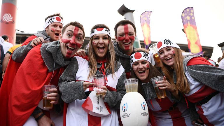 Thousands of England fans have flocked to Japan to watch England in their first World Cup final since 2007