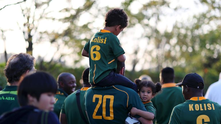 South Africa fans of all ages arrived at the stadium for the final