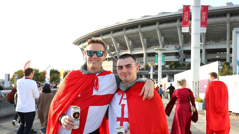 Many fans were dress up to support their country
