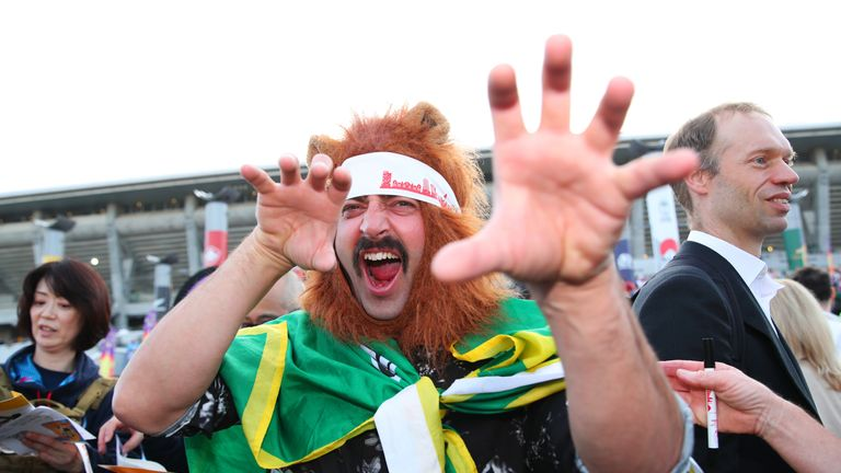 Springbok fans were roaring to go