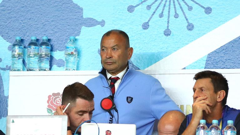 Coach Eddie Jones looked nervous as England finished the first half 6-12 down