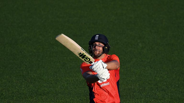 Watch the moment Dawid Malan brought up his 48-ball hundred, the fastest T20I century by an Englishman