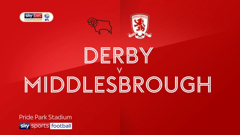 Highlights of the Sky Bet Championship game between Derby and Middlesbrough