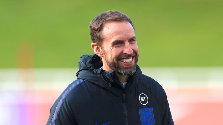 England manager Gareth Southgate during training session at St George's Park