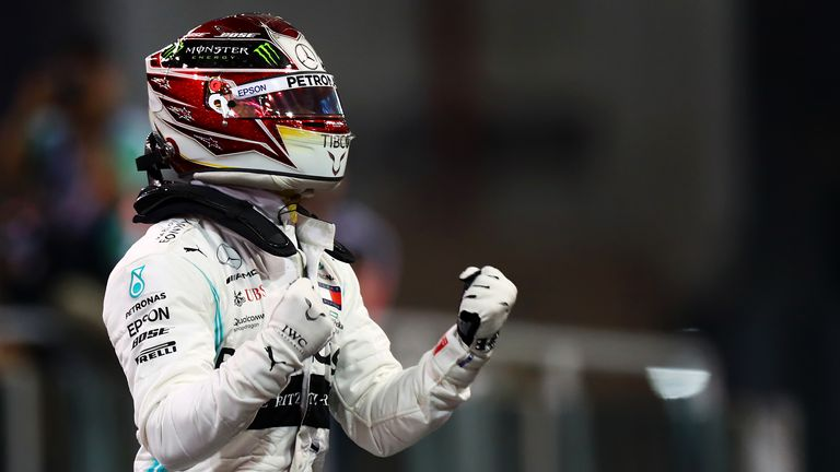 Lewis Hamilton described his final qualifying session of the year as 'sweet' after taking pole position for the Abu Dhabi Grand Prix
