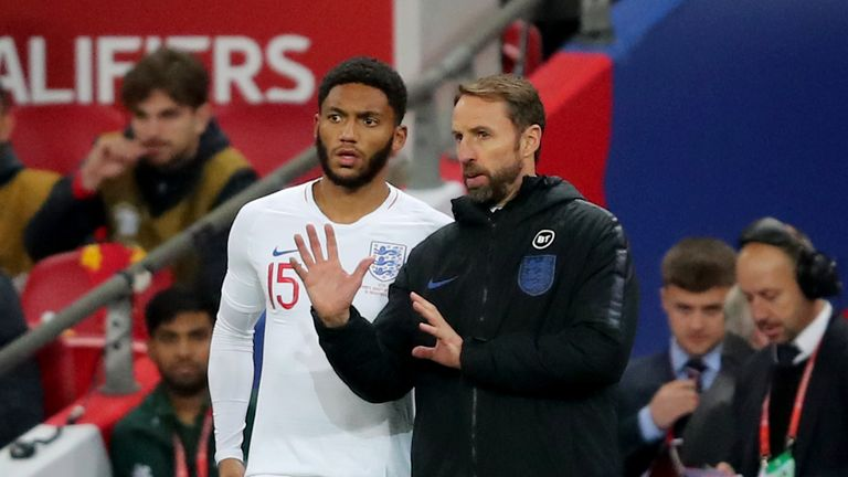Gareth Southgate says he was disappointed to hear boos for Joe Gomez