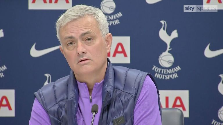 Jose Mourinho during his first Spurs press conference