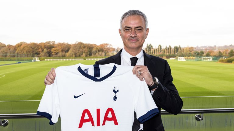 Tottenham Hotspur unveil new manager Jose Mourinho at the club's training ground