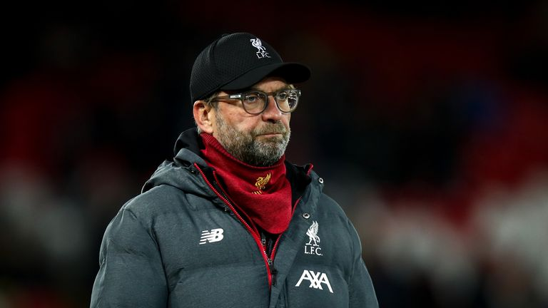 Liverpool manager Jurgen Klopp has urged fans to give Manchester City's team bus a peaceful welcome to the stadium on Sunday