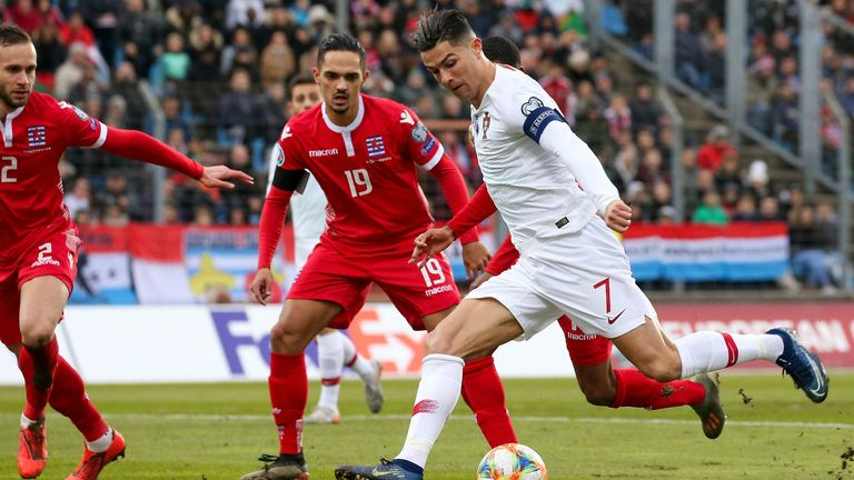 Highlights of Portugal's 2-0 win against Luxembourg in Group B of the Euro 2020 Qualifiers