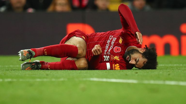 Mohamed Salah has been suffering with an ankle injury