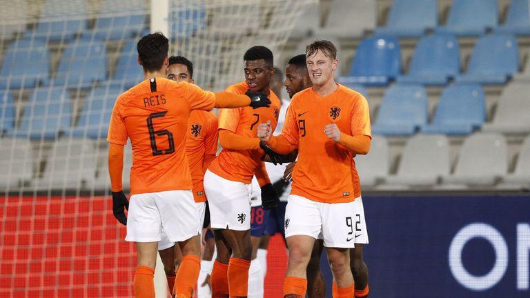 Netherlands U21s celebrate