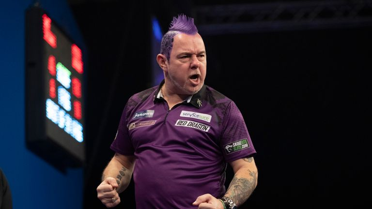 Peter Wright faces Glen Durrant in the afternoon's first semi-final