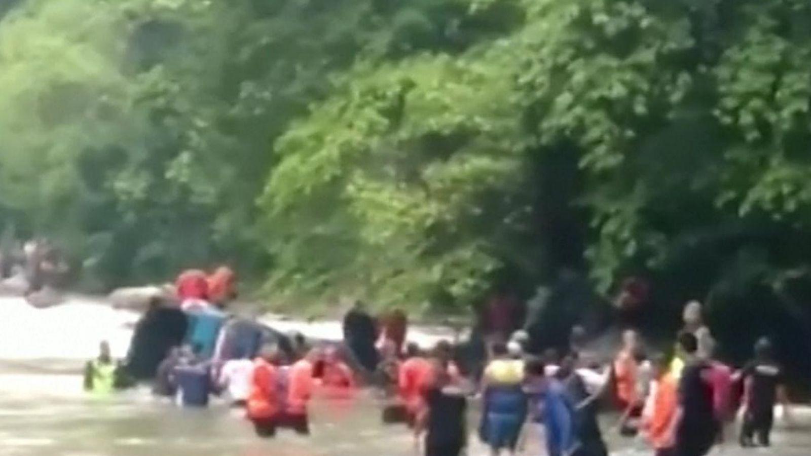 Sumatra bus crash: 25 killed after 262ft ravine plunge