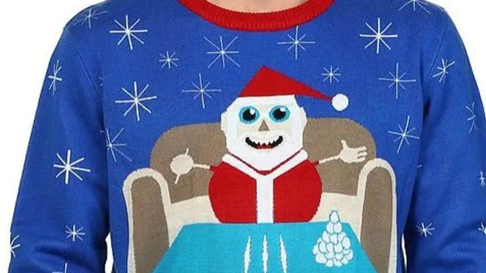 Walmart pulls jumper appearing to show Santa with lines of cocaine (09.12.19) Skynews-walmart-jumper-santa_4861547